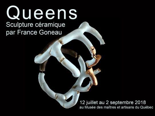Queens, Sculpture céramique par France Goneau